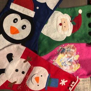 Four Christmas Stockings
